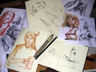 Kreative Zeichnung und Skizze